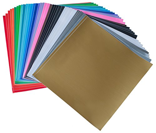 iImagine Vinyl 40-Sheets of Premium Permanent Self Adhesive Vinyl Sheets, 12