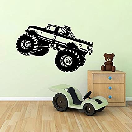 Fabulous Wall Decals Monster Truck Car Suv Kids Boys Room Nursery Wall Vinyl Decal Stickers Bedroom Murals Home Interior And Landscaping Ologienasavecom