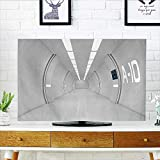 Jiahonghome Dust Resistant Television Protector Decor Corridor of Spacecraft Architecture Arrival to Solar System Time Travel Scene White tv dust Cover W32 x H51 INCH/TV 55''