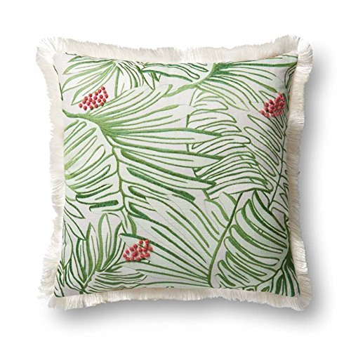 (Loloi Pillow, Justina Blakeney Down Filled - Green/Multi Pillow Cover, 22