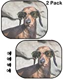 MSD Car Sun Shade Protector Side Window Block Damaging UV Rays Sunlight Heat for All Vehicles, 2 Pack Image ID 35379153 Dachshund Dog with Sunglasses at sea Put in a Bag