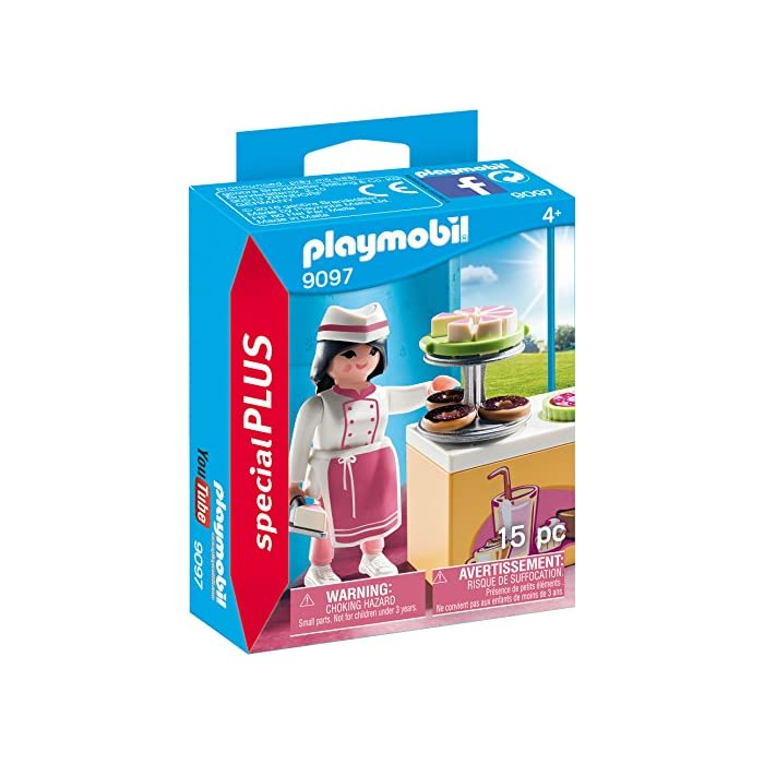51A3r8VMCtL Figura pastelera Con accesorios Ideal para completar tus mundos PLAYMOBIL