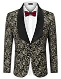 Product review for COOFANDY Men's Floral Party Dress Suit Stylish Dinner Jacket Wedding Blazer