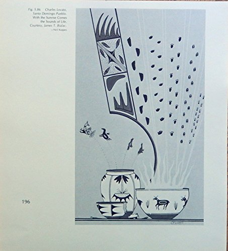With the Sunrise comes the sounds of Life, print art, by Charles Lovato, Santo Domingo Puelbo, gently removed from Vintage Indian Paintings Book