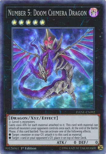 Yu-Gi-Oh! - Number 5: Doom Chimera Dragon - DANE-EN092 - Super Rare - 1st Edition - Dark Neostorm (Doom Card)