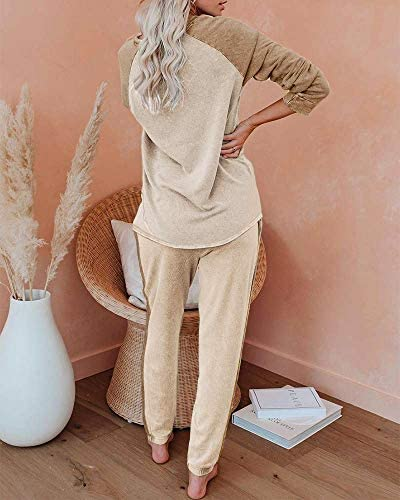 ETCYY NEW Lounge Sets for Women Two Piece Outfits Sweatsuits Sets Long Pant Loungewear Workout Athletic Tracksuits