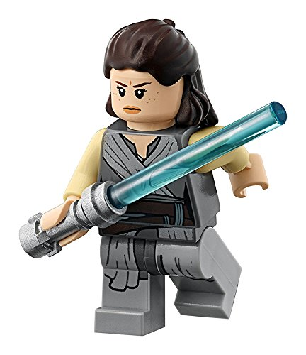 LEGO Star Wars Last Jedi Minifigure - Rey with Lightsaber (75189)