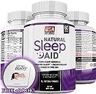 Natural Sleep Aid – Herbal Sleeping Pills with Melatonin, Valerian Root, Chamomile, Passionflower