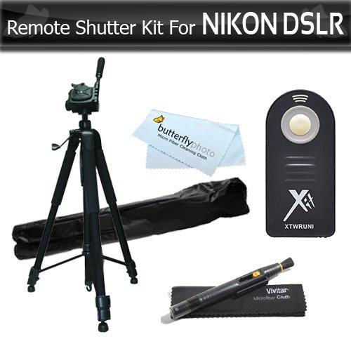 ML-L3 Wireless IR Remote Control Shutter Release Kit For Nikon D7200 D750, D5500, D5300, D3300, D5200, D3200, D5100 D7000 D610 D810, p7000, P7100, Nikon J1, 1 J4, S2, Nikon 1 AW1 DSLRS+ 72 Tripod ++ (Best Tripod For D7000)