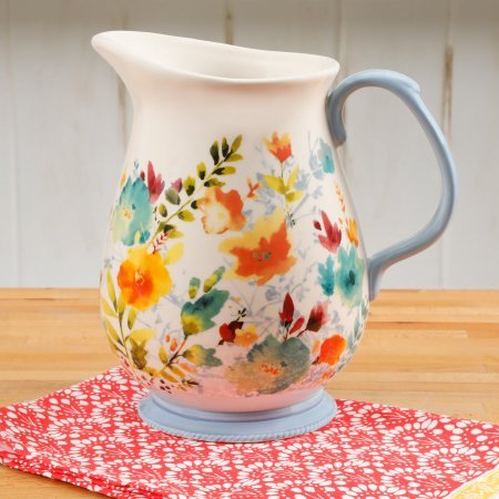 The Pioneer Woman Willow 3.2 Quart Pitcher Floral Design
