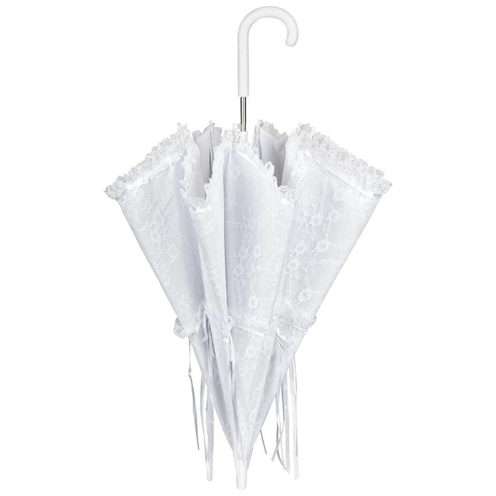 VON LILIENFELD/® Ombrelle Dentelle Mariage Parasol Femme Parapluie Luna Blanc