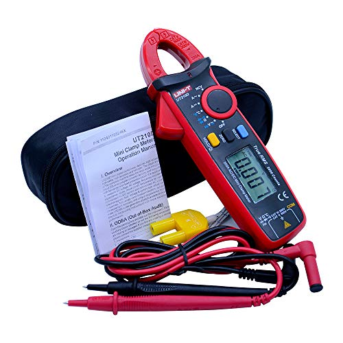 UNI-T UT210D trms clamp meter ac dc current clamp meter 2000 counts with zero mode -40~1000℃ temperature testing and NCV current clamp