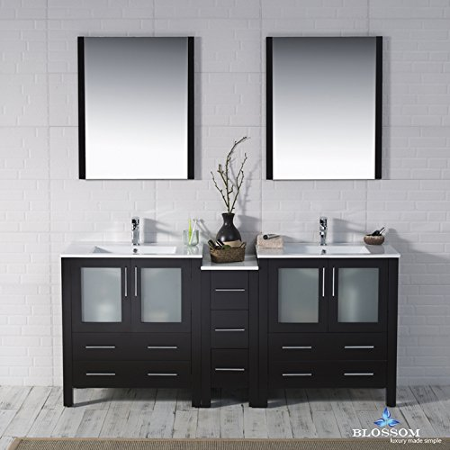 BLOSSOM 001-72-02-D Sydney 72'' Double Vanity Set with Mirrors Espresso by Blossom