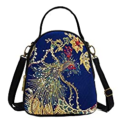Canvas Embroidery Handbag Totes