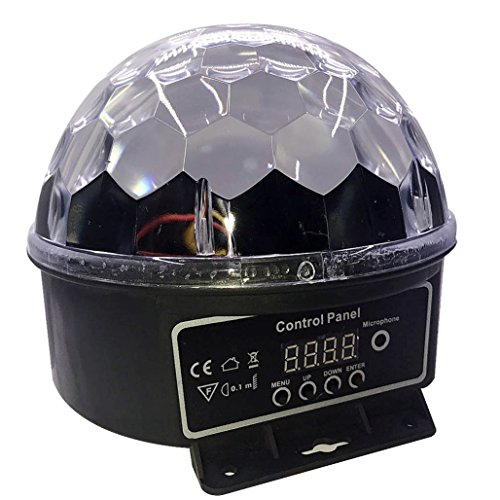 [Party Lights,6Colors Changes Sound Actived Auto RGB Mini Rotating Magic Disco Ball Strobe Stage Lights For DJ Dancing Show Concert Xmas Halloween Wedding PUB for Indoors / Outdoors -] (House With Dancing Halloween Lights)