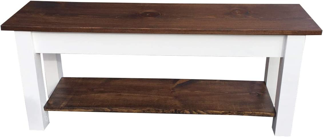 Colonial Harvest Bench with Shelf 72