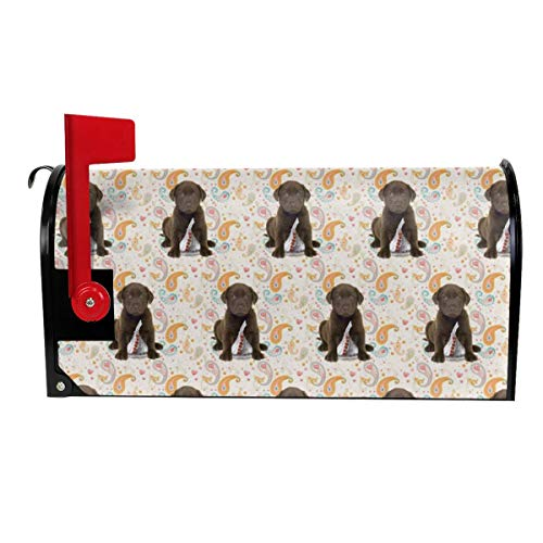 Puppy Chocolate Lab Kisses Garden Mailbox Cover Magnetic