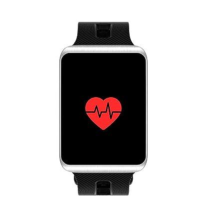 LCLrute Mode Alta Calidad Bluetooth Wireless Smart Watch Fitness Tracker Tensiómetro Pulsómetro Actividad Tracker, Negro