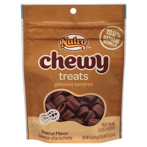 NUTRO Chewy Dog Treats, Peanut, 4 oz.