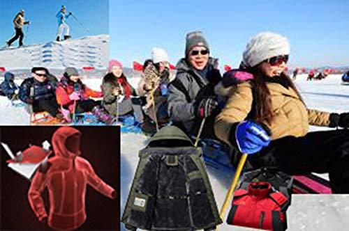 0766ee11a91 XinDao Mens Plus Size Winter Fleece Windproof Waterproof Ski Coat Mountain  Jacket with Detachable Hood Red
