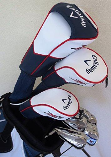 NEW Callaway Left Handed Mens Golf Set Regular Flex Complete Driver, Fairway Wood, Hybrid, Irons, Putter Stand Bag LH