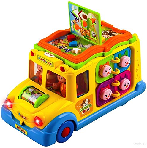 - WolVol Self Driving School Bus Toy with Lights and Sounds for Kids, Learning and Activity Functions & Very Interesting Movements