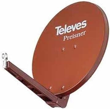 Televes S75QSD-Z 10.7-12.75GHz Rojo - Antena (10,7-12,75 GHz, 38,5 dBi, 75 cm, 750 mm, 1,5 mm, 850 mm)