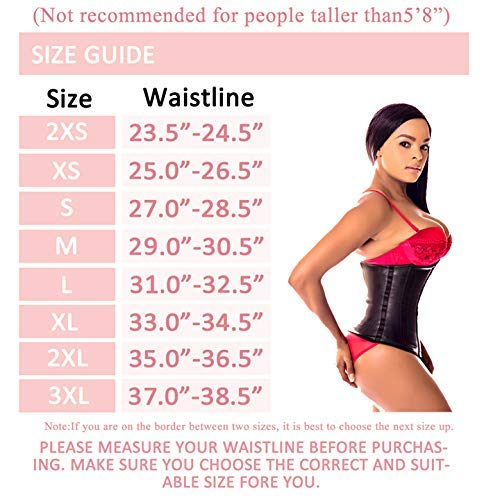 Ann Darling Latex Sport Waist Trainer/Cincher/Trimmer Hourglass Corset For Weight Loss Black Small