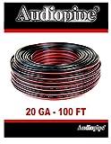 12 ga car speaker wire - Audiopipe 100' Feet 20 GA Gauge Red Black 2 Conductor Speaker Wire Audio Cable