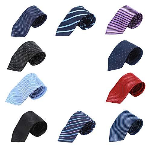 (HBY Men's Ties 10 Pack Classic Necktie Set multi color necktie)