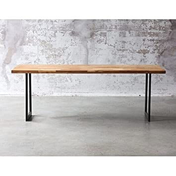 MATHI DESIGN Table de Repas Atelier au Style Industriel: Amazon.fr ...