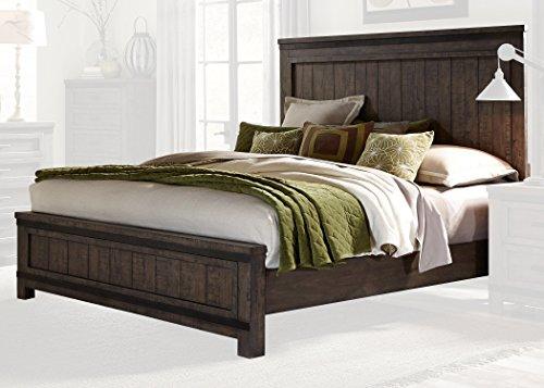 Liberty Furniture INDUSTRIES 759-BR-KPB Rock Beaten Gray Finish with Saw Cuts Thornwood Hills Panel Bed, King (Liberty Furniture Antique Headboard)