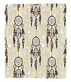 Chaoran 1 Fleece Blanket on Amazon Super Silky Soft All Season Super Plush Native American Decor Collection Illustration ofet of Indian Boho Dreamcatchers in Retro Folk Art Design Fabric et Cream Coho