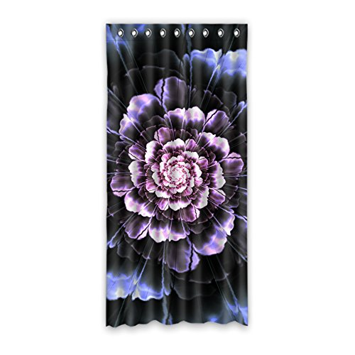 JIDUIDODO Custom Decoration Wonderful Halloween Gifts Dahlia Flowers Window Curtain For Living Room, Bedroom, And Kids Rooms Polyester Cheap Curtains 52''x108''(One Piece) by Nature
