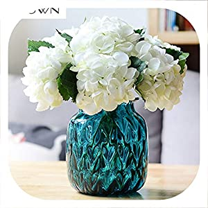 Memoirs- Luxury Artificial Silk Hydrangea Flower Bouquet Flore for DIY Wedding Wall Flore Party Home Accessory Decoration Flower 8colors 25