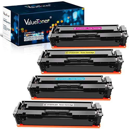 Valuetoner Compatible Toner Cartridge Replacement for HP 201X 201A CF400X CF401X CF402X CF403X CF400A for Color Laserjet Pro MFP M277dw M252dw M277n M277c6 M252n M277 (Black