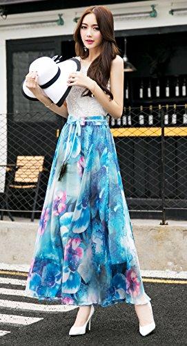 Shineflow - Falda - Manga Larga - para mujer Azul