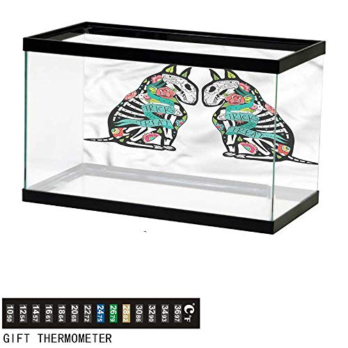 bybyhome Fish Tank Backdrop Halloween,Skeleton Demon,Aquarium Background,36