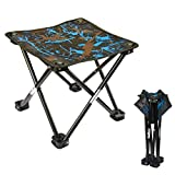 Folding Camping Stool, Portable Chair with Carry Bag for Outdoor Fishing Sporting Hiking Beach Park Gardening Little Stools (Blue)