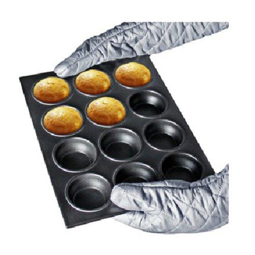 12 Holes Metal Cupcake Mould Ovenware Pan Bake (Hole Bake Pan)
