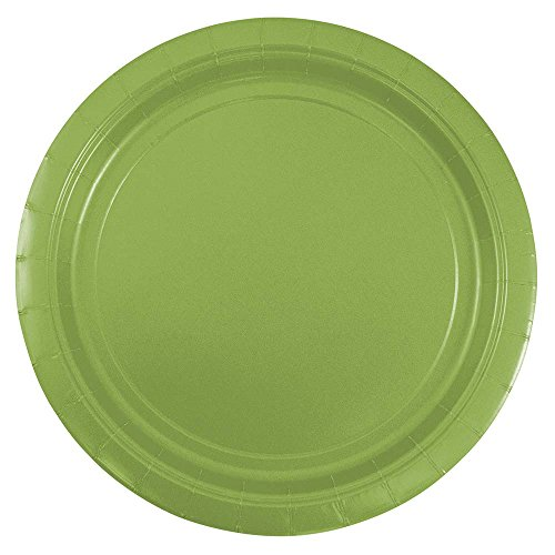 - JAM PAPER Round Paper Party Plates - Medium - 9 Inch - Lime Green - 50/pack