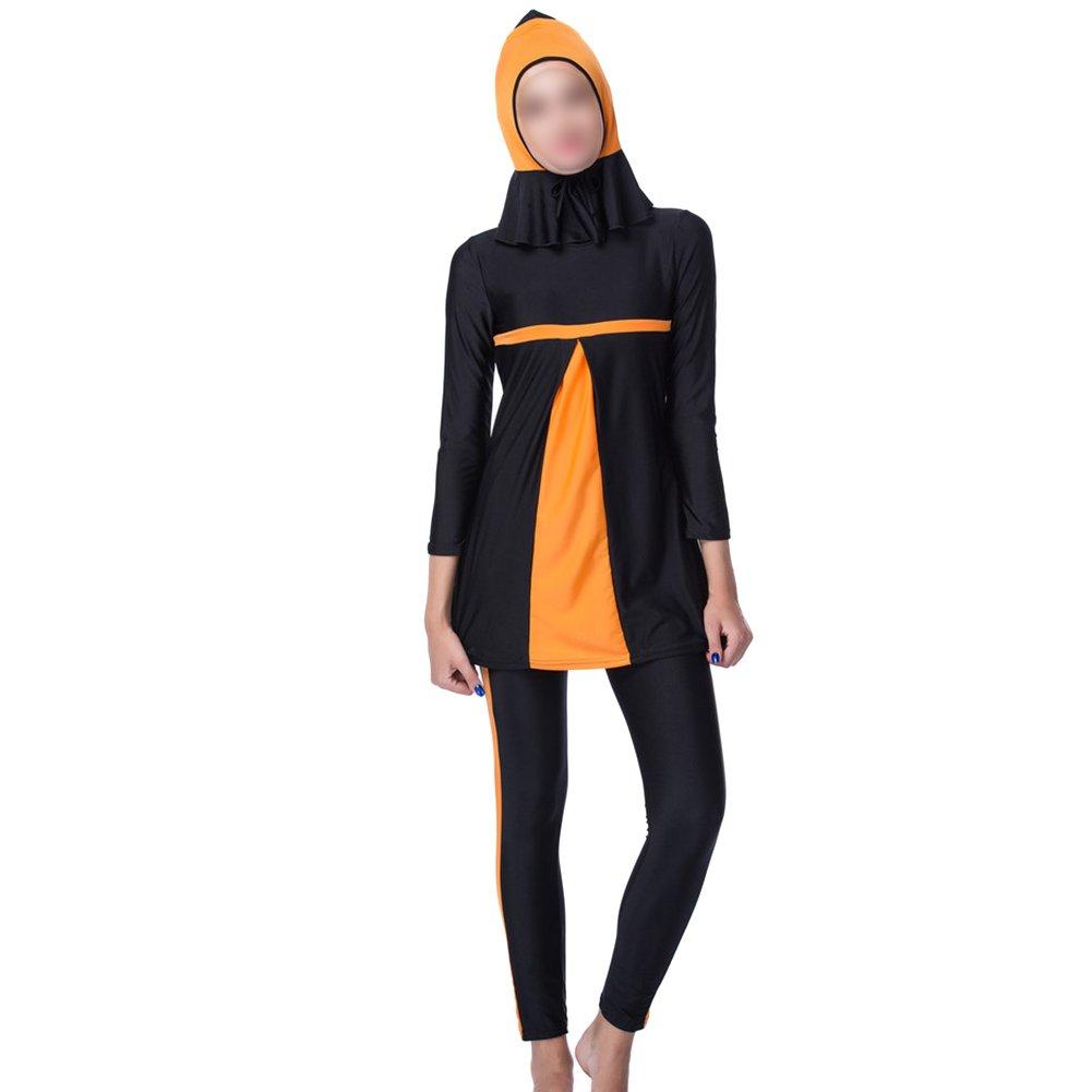 Deylaying 3 pièces Manches longues musulman Maillots de bain Modeste islamique arabe Juif hindou Burkini Couverture complète Protection solaire Dubai Femmes Tenue de plage avec Hijab Marque Livraison Gratuite Nouveau Unisexe IQr7ZyWFqE