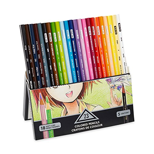Soft Core Colored Pencil,  Set of 23