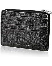 MYCARBON Kartenetui Leder RFID Kreditkartenetui Portemonnaie Damen und Herren Geldbörse aus echtem Leder Geldbeutel und 12 Fächer Brieftasche