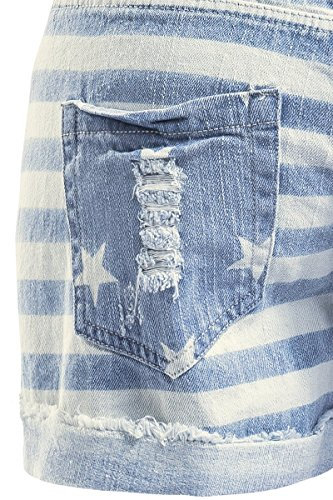 Stripes Blue Stars And Brandit Light Gris Femme Sexy Short RATEHqwg