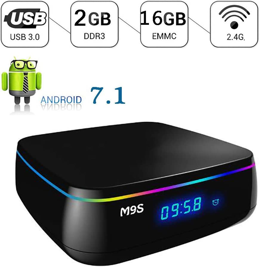 Android 7.1 TV Box-M9S Mix Smart TV Box 2GB RAM 16GB ROM Amlogic S912 CPU Quad-Core De 64 bits, Compatible con Resolución 4K, 2.4Ghz WiFi Y Reproductor De Video Bluetooth 4.0: Amazon.es: