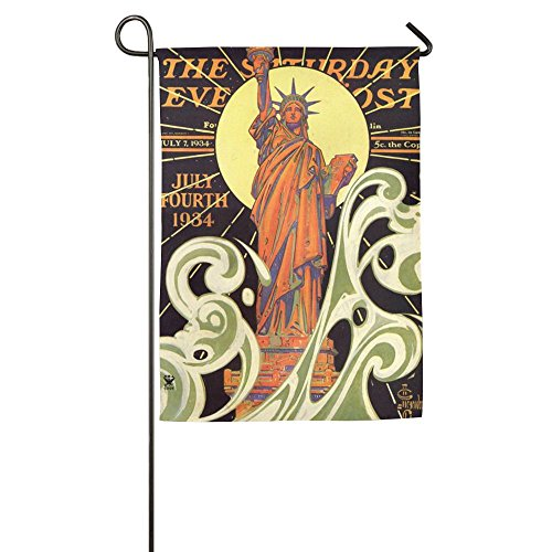 Colorful Statue Of Liberty America Winter Home Yard House Garden Flags 12 X 18 Semi Transparent Polyester Fiber Decorative -