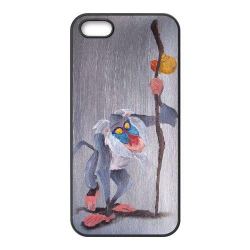C2O30 Disney Le Roi Lion Caractère Rafiki Y5F2UI coque iPhone 4 4s cellulaire cas de téléphone couvercle coque noire IG6BYQ5GC