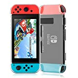 Nintendo Switch Case, Findway Transparent Soft Back TPU Protective Cover Case for Nintendo Switch