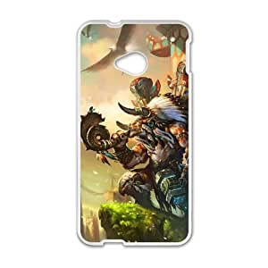 HTC One M7 Cell Phone Case White Baine Bloodhoof Vloov